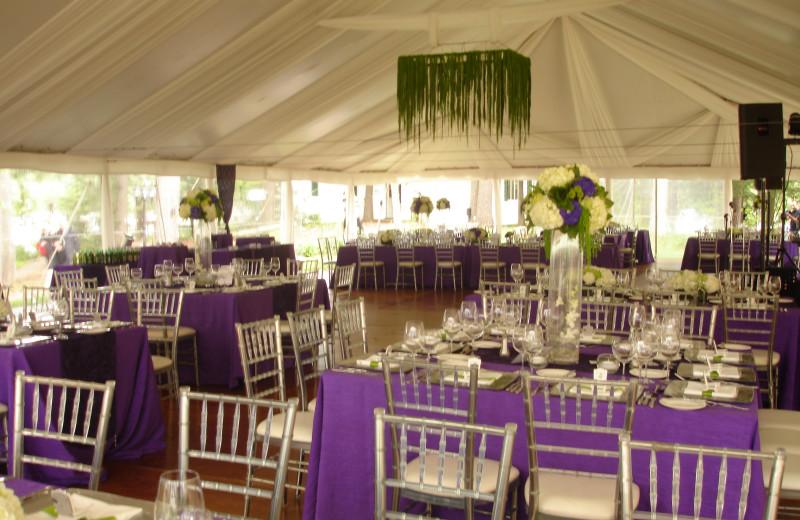 Wedding reception at Sherwood Inn.