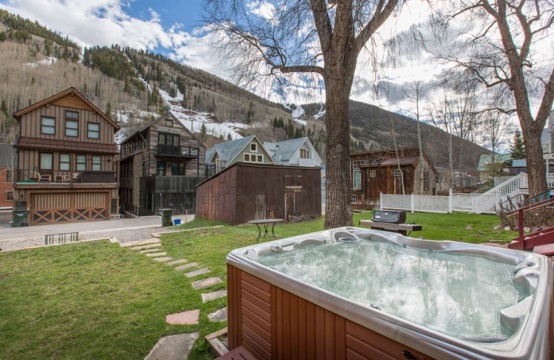 Rental hot tub at Welcome to Telluride Vacation Rentals.