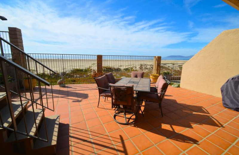 Rental patio at Coastal Vacation Rentals.