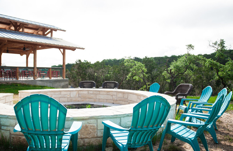 Fire pit at Hill Country Casitas.