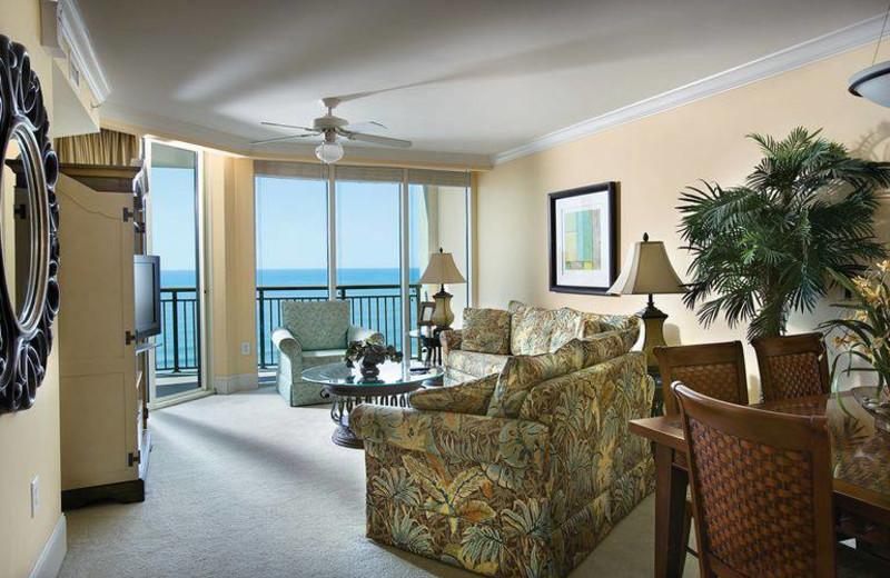 Guest living room at Mar Vista Resort Grande.