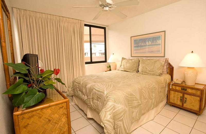 Condo bedroom at Kamaole Sands.