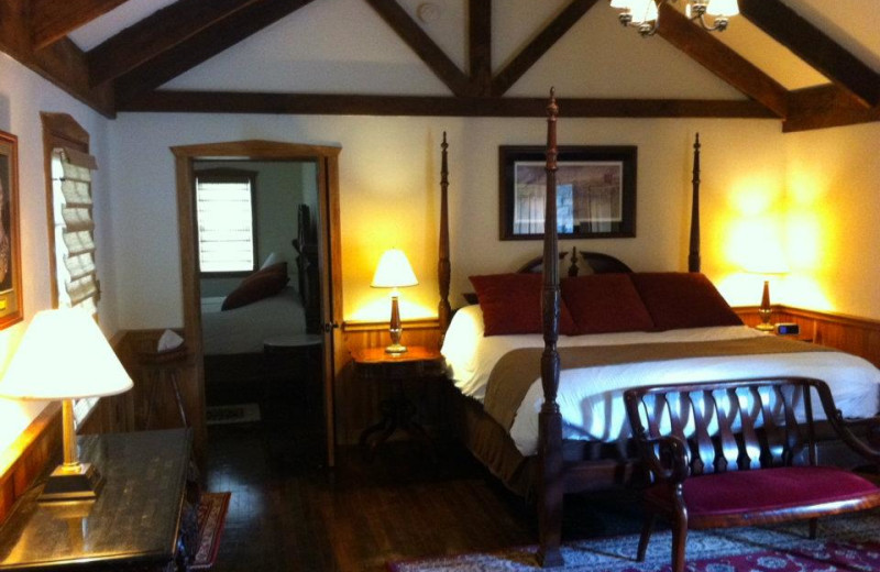 Guest room at The Lodges at Gettysburg.