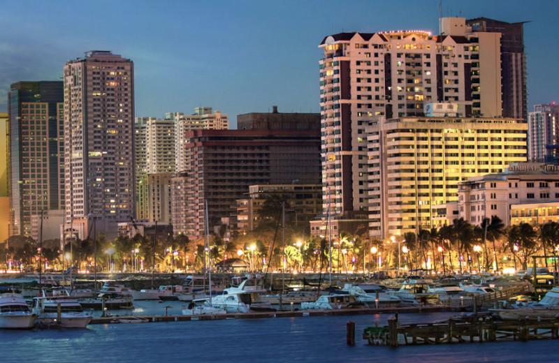 City view at Pan Pacific Hotel Manila.