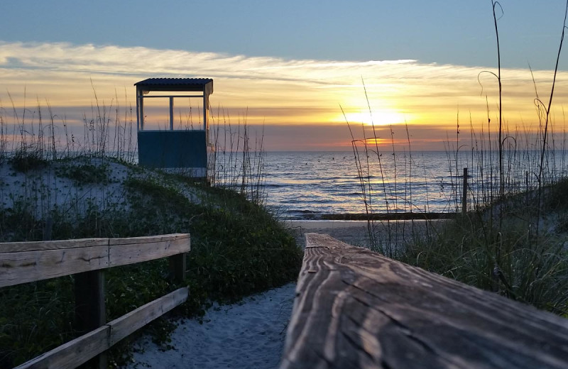 Beach at Carolina Beach Inn.