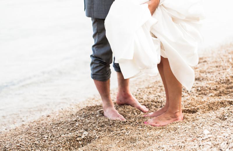 Beach wedding at Wisteria Inn.