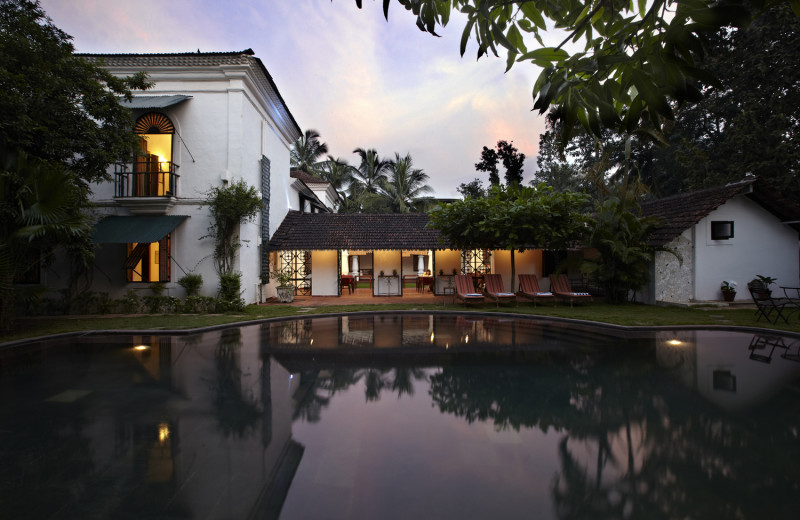 Outdoor pool at Siolim House.