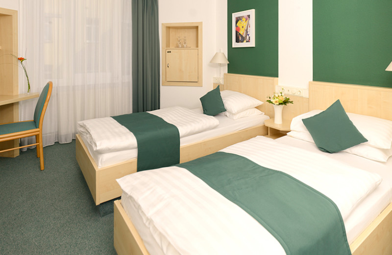 Guest room at Hotel Kaiserin Augusta.