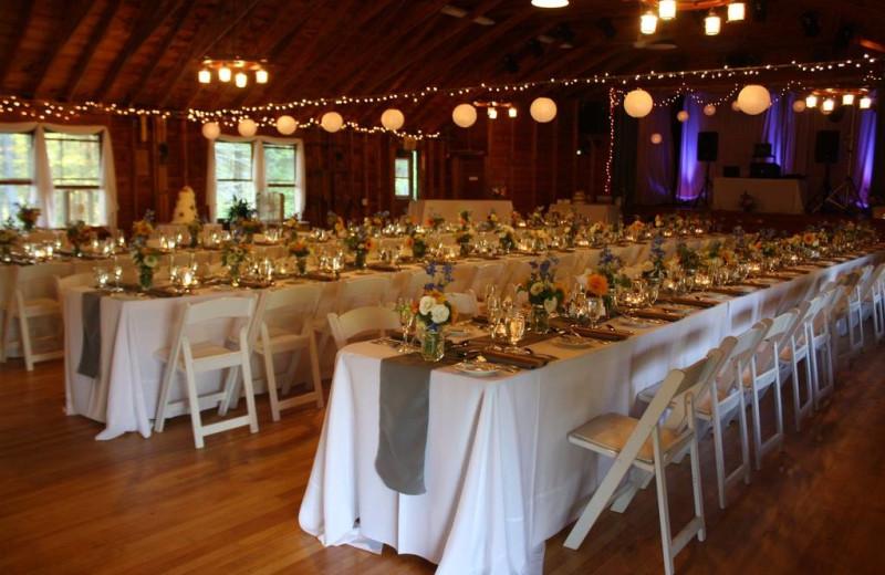 Wedding reception at Sebasco Harbor Resort.