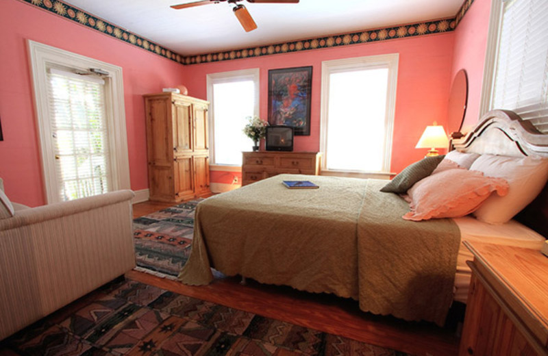 Guest bedroom at Marrero's Guest Mansion.