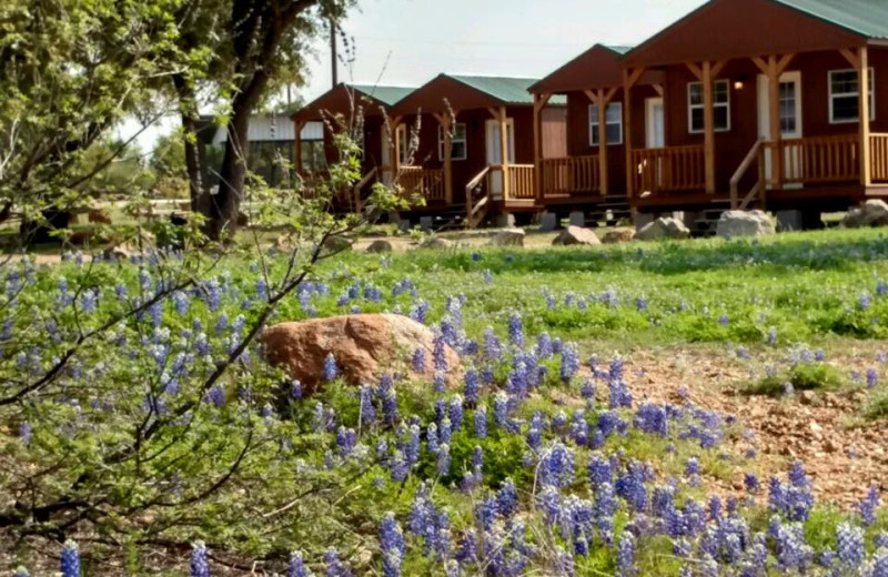 Cabin exterior at Big Chief RV Resort.