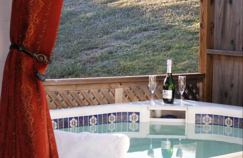 Hot tub at Elm Creek Manor.