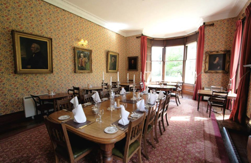 Dining room at Viewfield House.