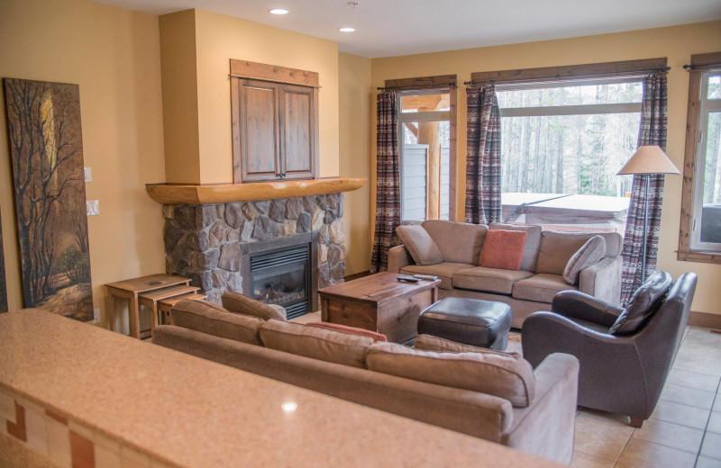 Guest living room at Northstar Mountain Village Resort.