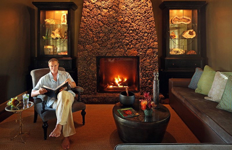 Rest by the fire at Lumeria Maui.