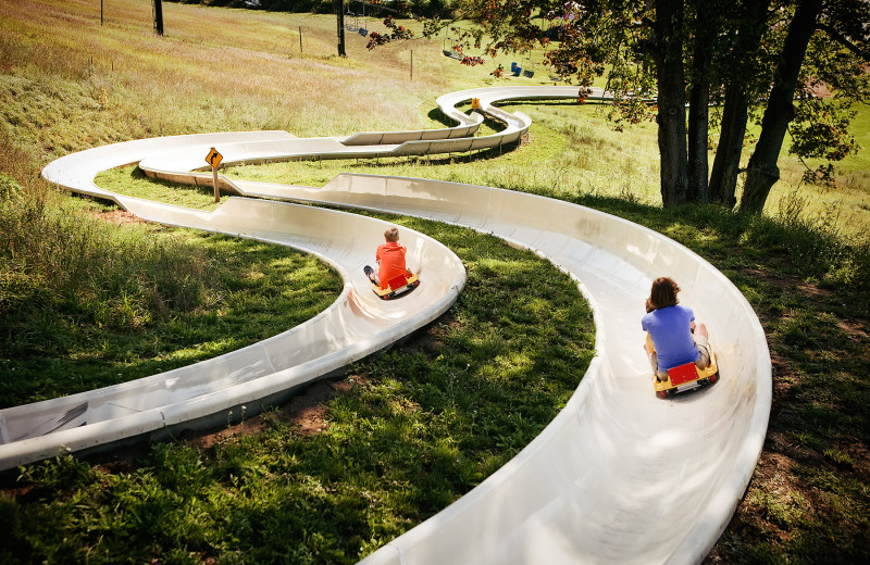 Alpine slide at Crystal Mountain Resort.
