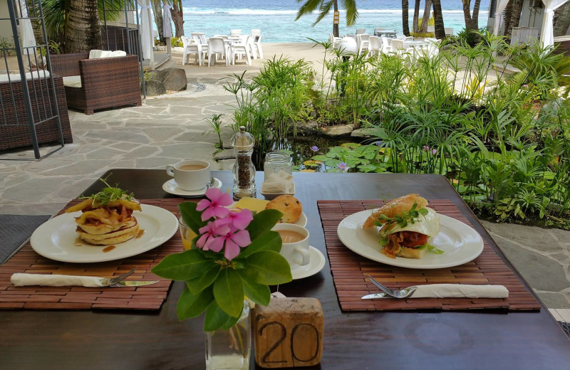 Dining at Crown Beach Resort.