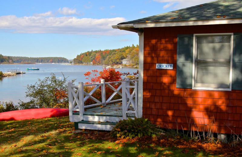 Cottage exterior at Sebasco Harbor Resort.