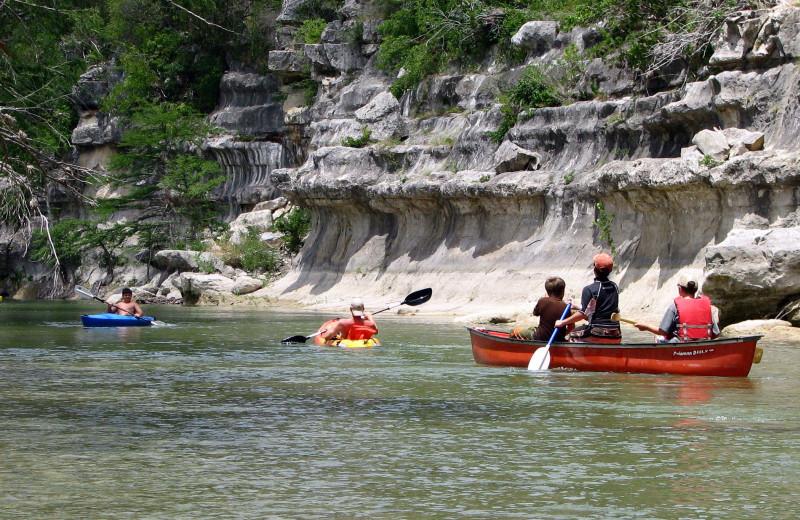 Canoeing at Joshua Creek Ranch.