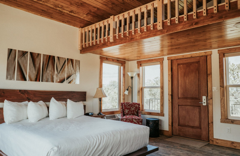 Guest bedroom at Stone Canyon Inn.