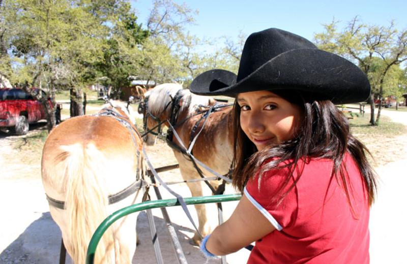 Wagon ride at Rancho Cortez.