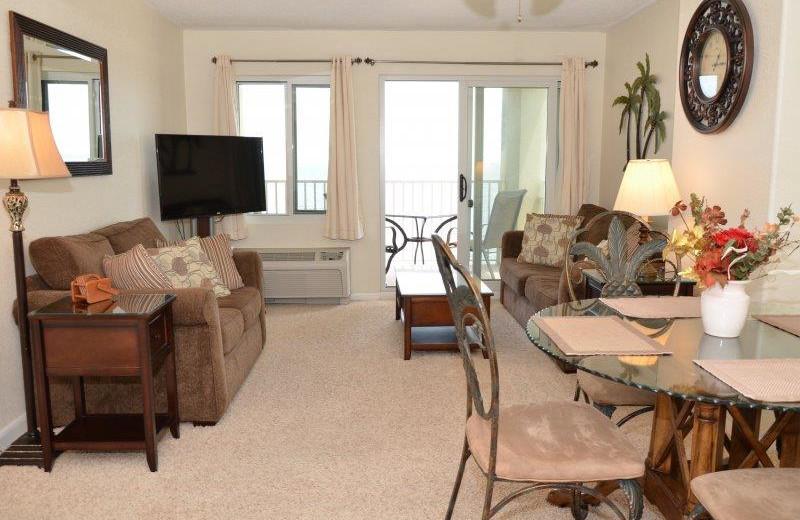 Rental living room at Dolphin Run Condominium Association. Inc.