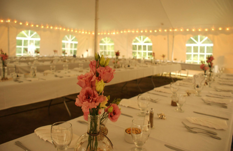 Wedding tent at The Outing Lodge at Pine Point.