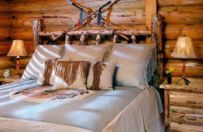 Guest room at Hidden Meadow Ranch.