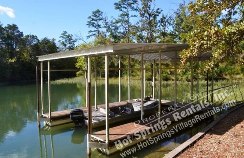 Fishing dock at Hot Springs Village Rentals.