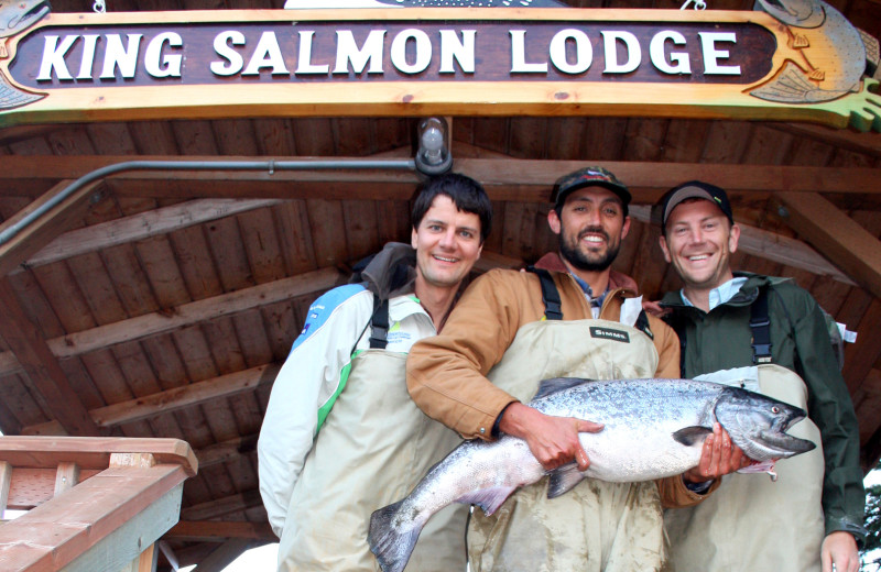 Fishing at King Salmon Lodge.