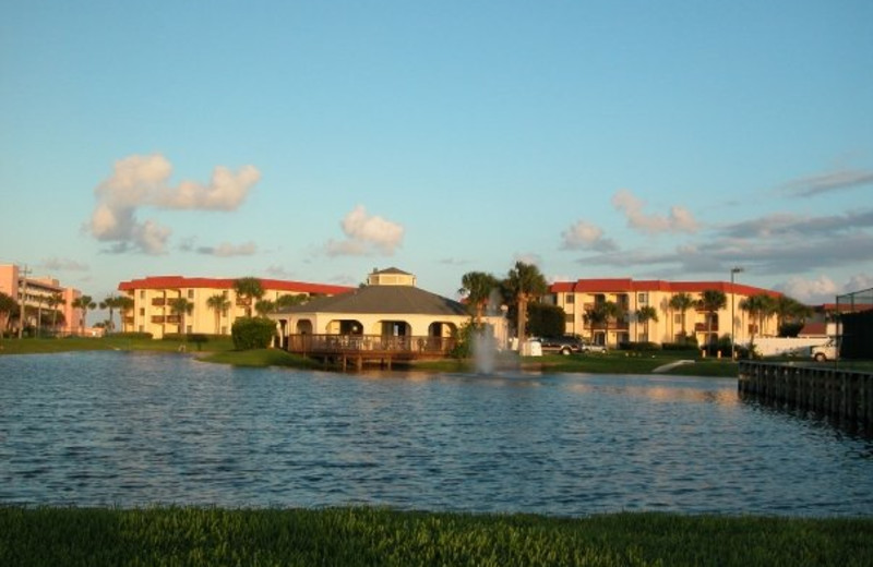Exterior view of St. Augustine Ocean & Racquet Resort.