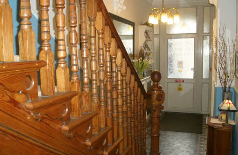 Stairs at Moorgarth Guest House.