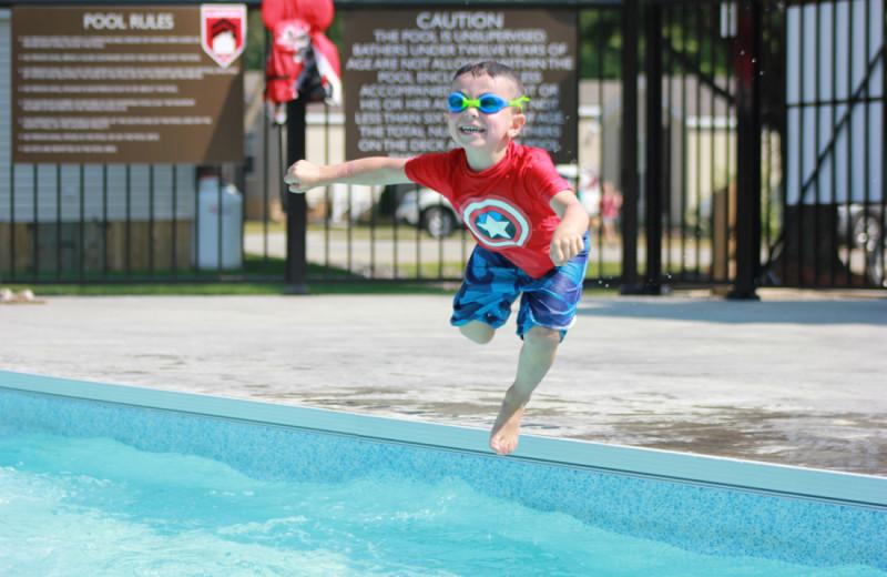 Outdoor pool at Shamrock Bay Resort.