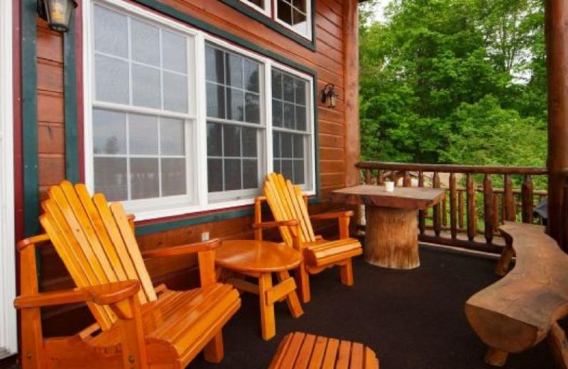 Cabin deck at Trout House Village Resort.