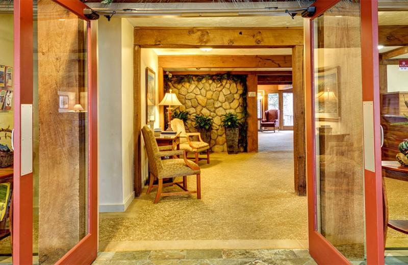 Lobby at Silver Fox Inn.