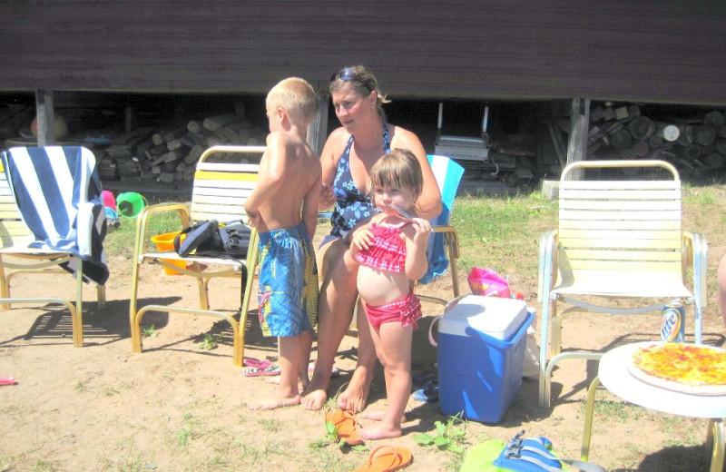 Beach fun at Northland Lodge.