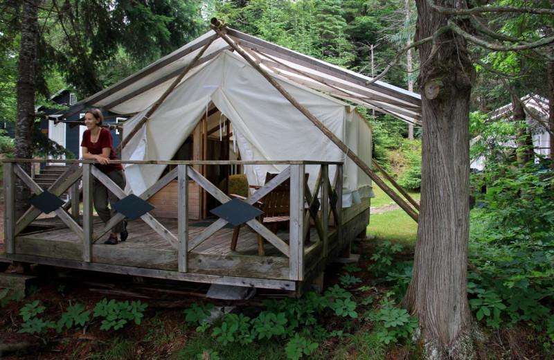 Tent at Bartlett Lodge.