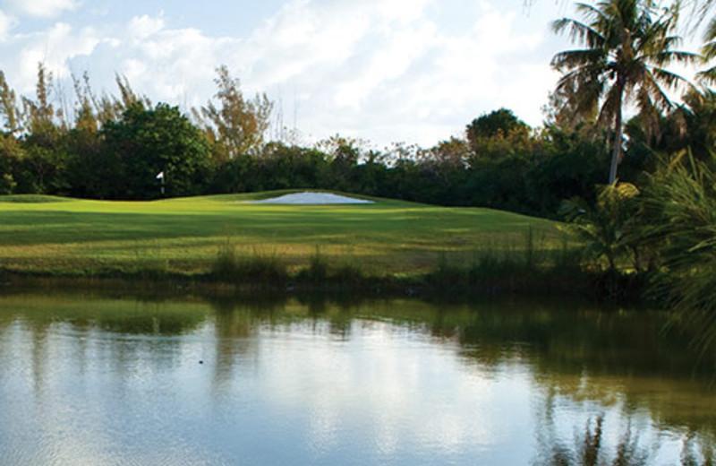 Golf course at Treasure Cay Resort and Marina.