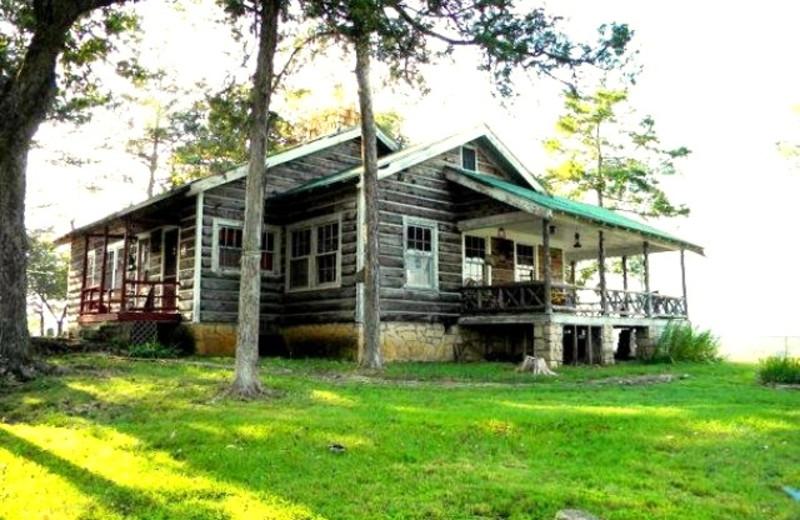 Cabin exterior at Arcadia Coves.