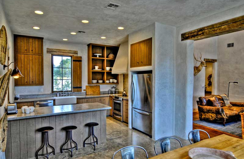 Guest kitchen at Stablewood Springs Resort.