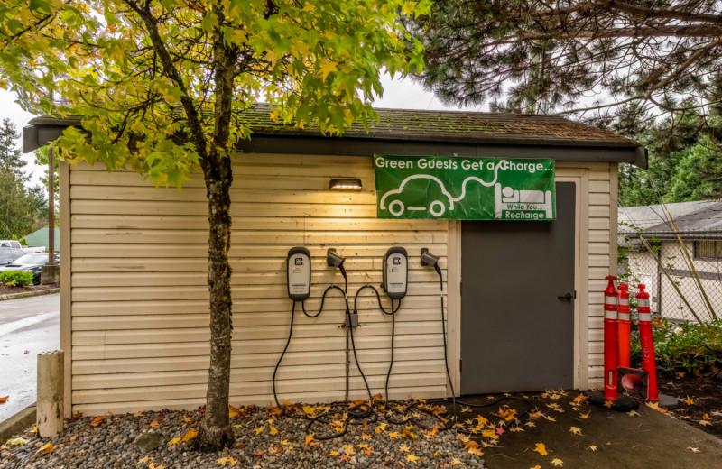 Electric charging station at The INN at Gig Harbor.