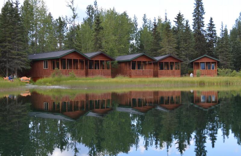 Cabins at Summit Lake Lodge.