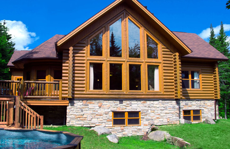 Chalet exterior at Fiddler Lake Resort.