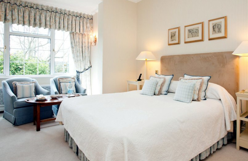 Guest room at Longueville Manor.