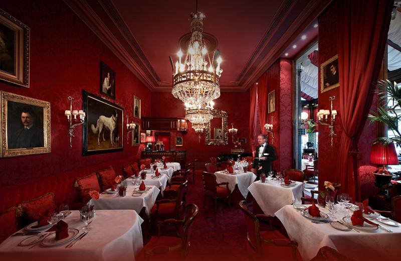 Dining at Hotel Sacher Wien.