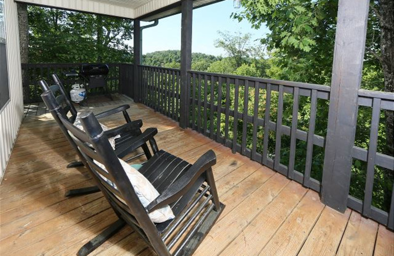 Rental balcony at Smoky Mountain Resort Lodging and Conference Center.