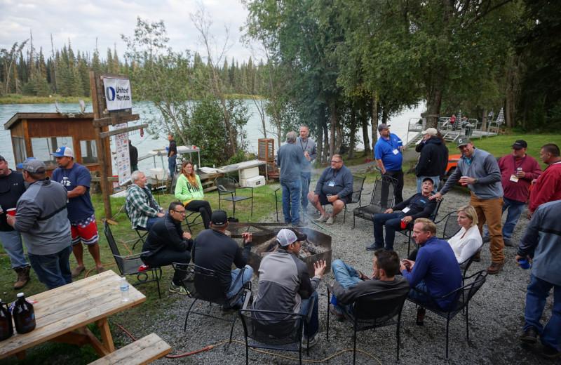 Groups at Big Sky Charter & Fishcamp.