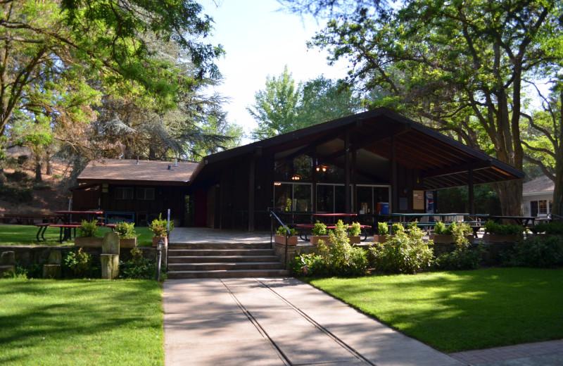 Lodge exterior at Rankin Ranch.