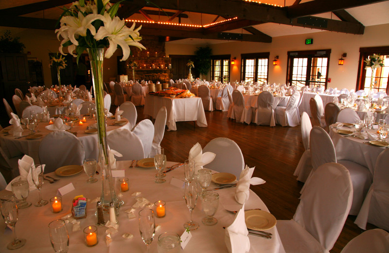 Wedding reception at Marys Lake Vacation Condos.
