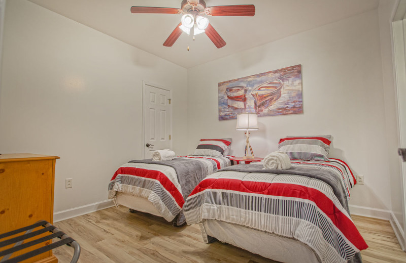 Rental bedroom at Premier Vacation Rentals @ Smith Mountain Lake.
